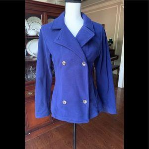✴️Lands' End Fleece Pea Coat